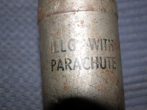 British 2 inch mortar parachute flare