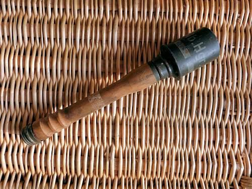 WW2 German stick grenade training tool???