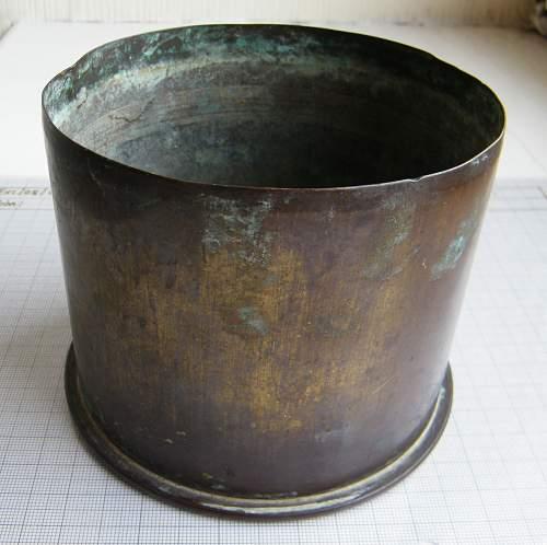 1916 dated German shellcase