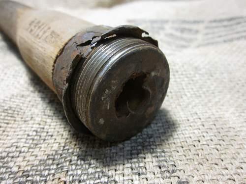 Three Relic M24 Stick Grenade handles