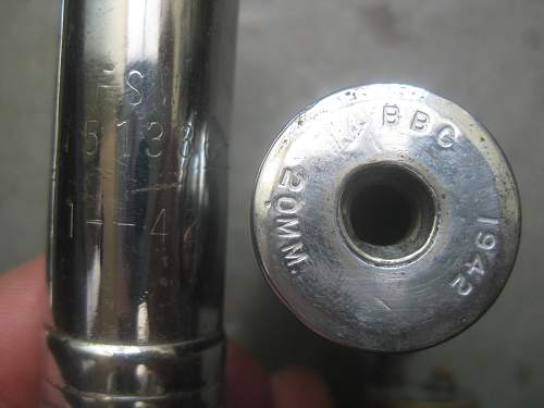 American 20mm Trench art rounds?