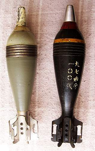 Today's Finds!  Japanese Type 100 Mortar Round and Unknown 81mm For ID