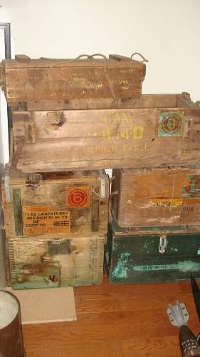 Some Canadian WW1 and WW2 Ammo Crates