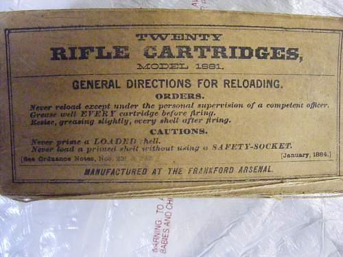 Unfired 1884 .45/70 Round
