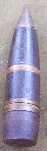 Japanese  Type 90  7cm 75mm H.E. Anti-Aircraft Projectile and Shell