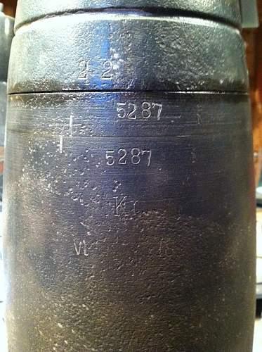 Need help identifying possible Kreigsmarine 5.9cm shell