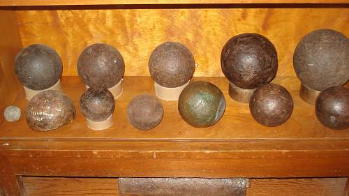 Arranging my Balls, my Cannonballs that is!!!!!