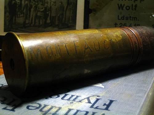 WWI Trench Art French 37mm Inert Round