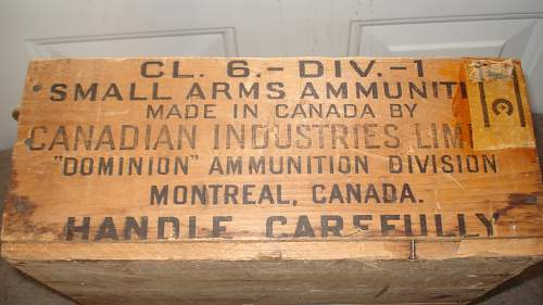 1944 Dated Canadian .22 ammo box