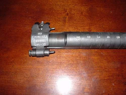 M1 Carbine grenade launcher