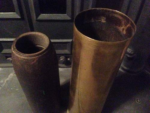 Ww1 shell case and projectile?