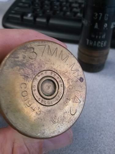 WW II  37mm shell