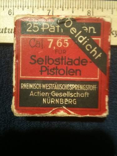 Original 7.65 cartridges...