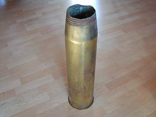 British 4,5 inch casing for naval gun.