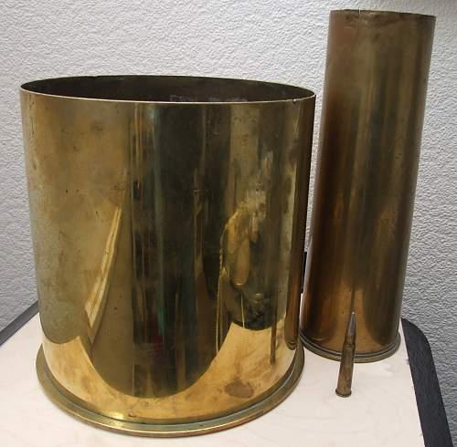 Large WW1 German artillery shell case