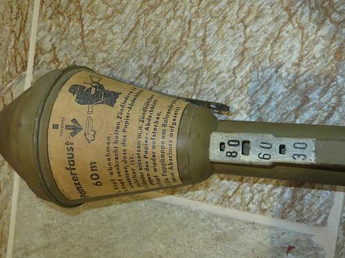 Panzerfaust from a collection.