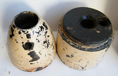 RAF Plastic/bakelite practice bomb