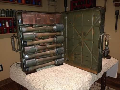 Stick grenade case/collection