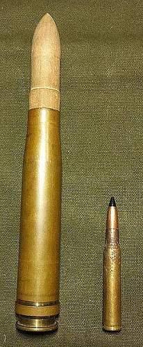 German 2cm Wood Tip Platzpatrone with Case