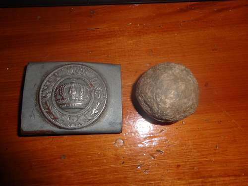 cannon balls  from a estate auction