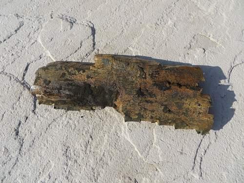 21cm shell head blown up in Jersey, Channel Islands