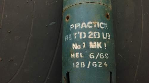 Practice 28 lb ret'd No1 MK1 hel 6/69
