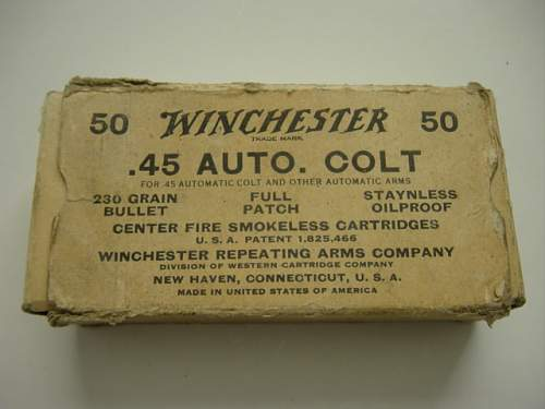 Click image for larger version.  Name:45 Auto cartridge box.  Dated 4 40..jpg Views:2145 Size:141.7 KB ID:8407