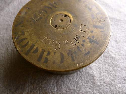 French WWI 75mm canon shell? Any WWI ordnance inscription experts?
