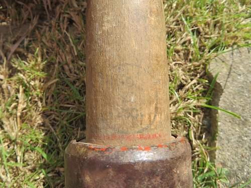 Training stick grenade?