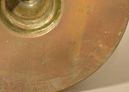 Original Nazi 88mm Flak Round