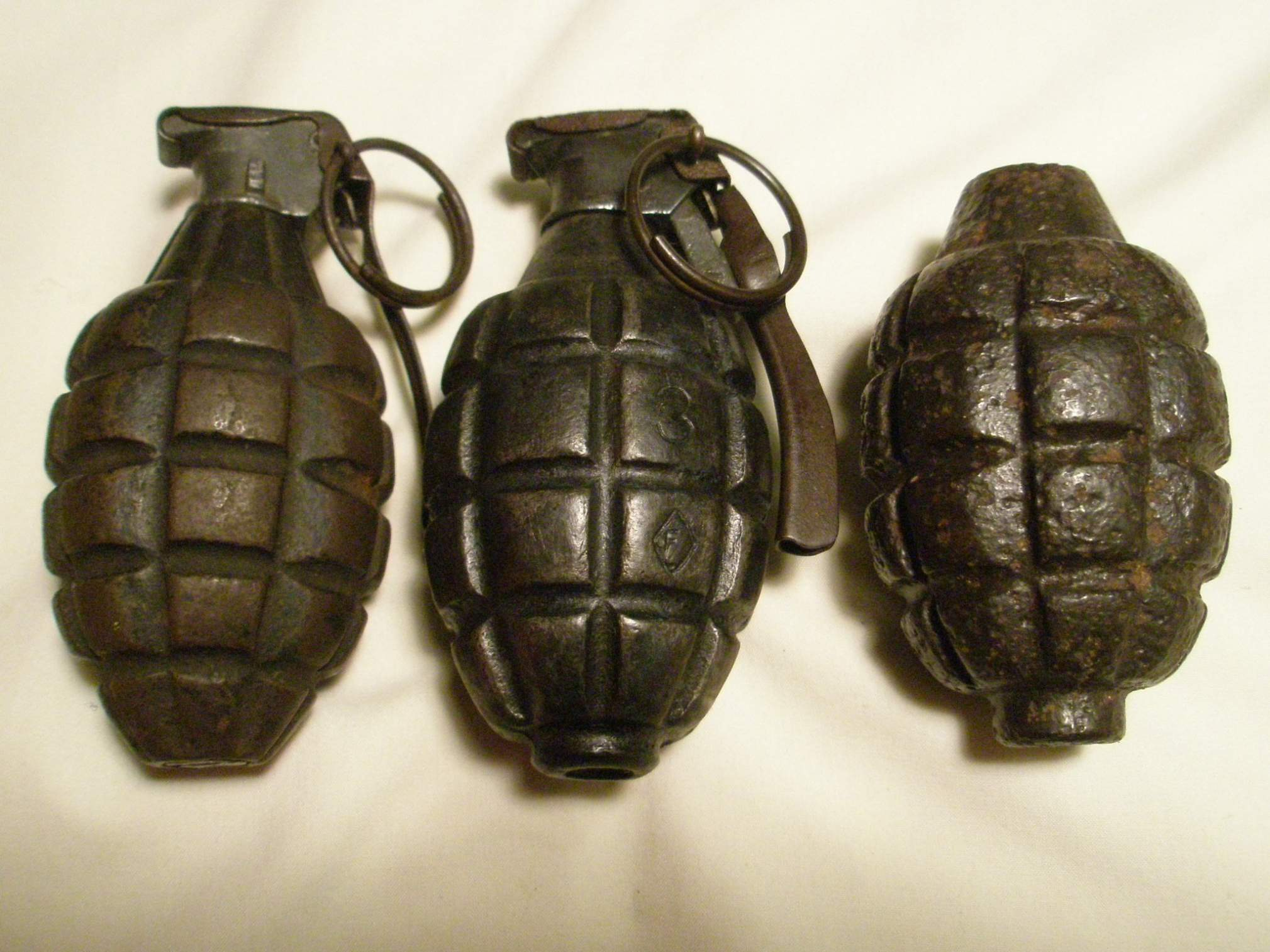 "WWI U.S. ""MKII"" Handgrenade Grenades In World War 1"