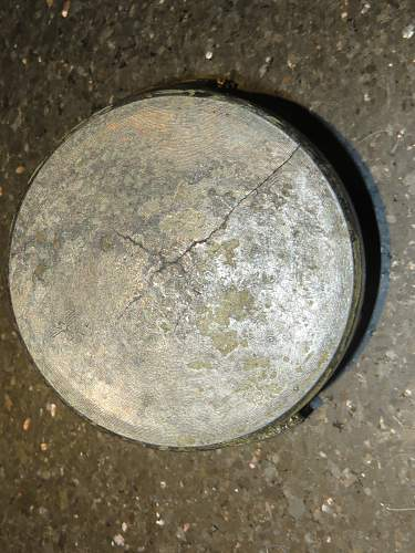 A German 75mm HE head found on the beach in Jersey