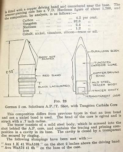 German 20mm (2cm) Panzergranate 40