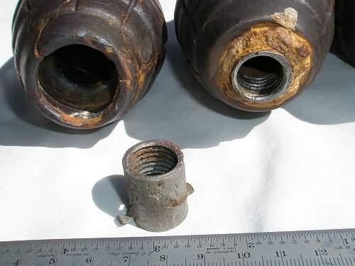 Soviet experimental F-1 ceramic grenades