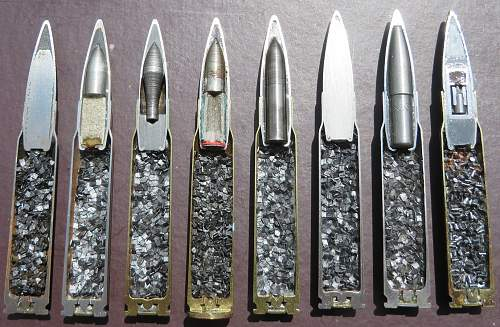 Sectioned 7.92 rounds.