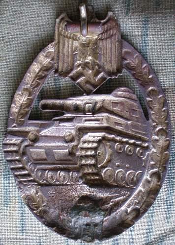 Panzerkampfabzeichen in silber Juncker