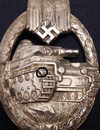 Panzerkampfabzeichen silver - Karl wurster