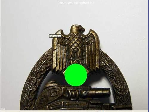 Panzerkampfabzeichen in Bronze - Opinions please