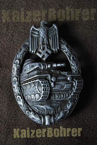 Panzerkampfabzeichen badge - Original or fake? Please help!