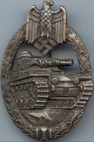 panzerkampfabzeichen in bronce