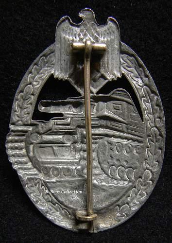 Panzerkampfabzeichen in Silber, B.H. Mayer
