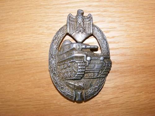 Panzerkampfabzeichen Bronze Fake Gallery