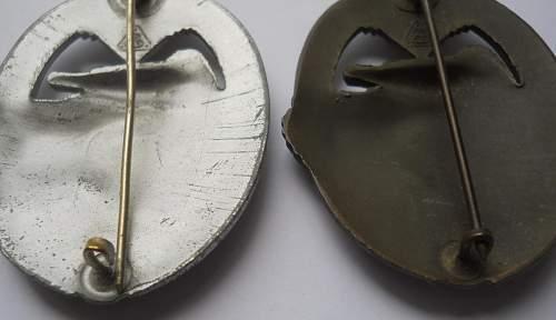 Panzerkampfabzeichen in Silber, AS in Triangle