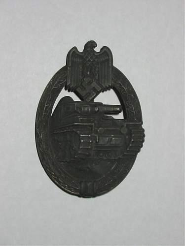 """""""Marked""""- Unmarked F&R  Panzerkampfabzeichen"""
