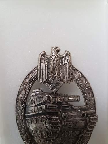 Panzerkampfabzeichen in Silver- Hermann Aurich