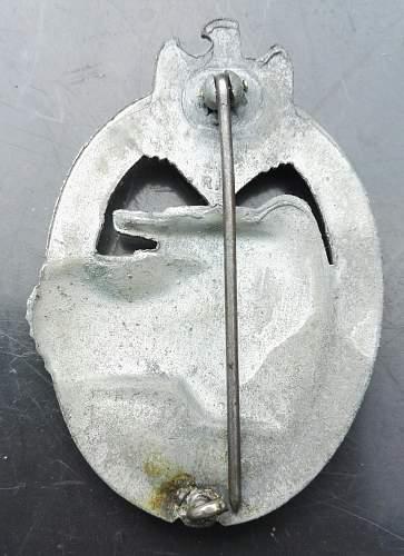 Panxerkampfabzeichen in silver Karneth