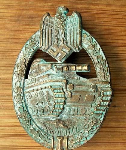 Panzerkampfabzeichen in Bronze PAB bronze Hermann Aurich