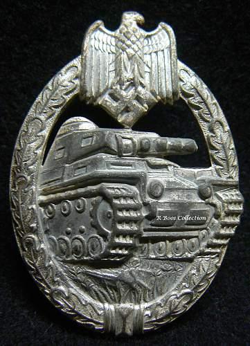 Panzerkampfabzeichen in Silber genuine?
