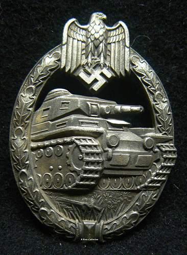 Panzerkampfabzeichen in Silber, Unknown Maker, Juncker Set Up.