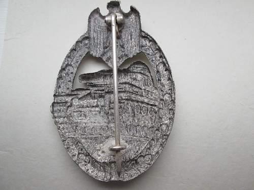 Panzerkampfabzeichen in Silber